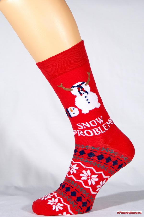 Cockneyspaniel SNOW PROBLEM pánské vánoční ponožky    Ponožky ... 2e42dc644e