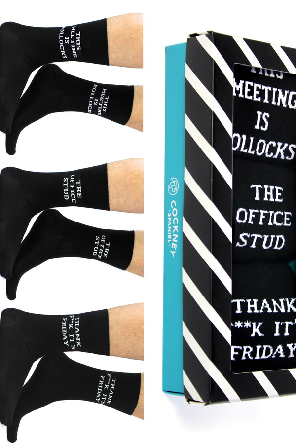 Cockneyspaniel OFFICE BOX of men´s socks    Socks  44fe89095a