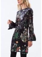 ABITO sametové šaty - dlouhá halena
