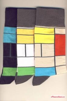 KUBISTICKÉ pánské ponožky bavlna - Barevné pánské ponožky 16ccd2fb51