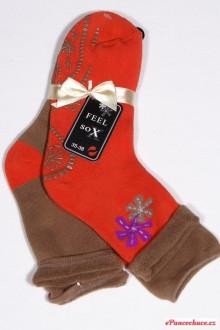 38490 sada teplých ponožek ABS - cihlová 66affe1bdf