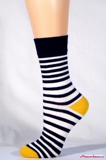 34939 ponožky BA úzký pruh - žlutá 72df4b8eef