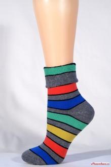 38100 thermo froté ponožky - oranžový pruh 1c5d3bbbe6