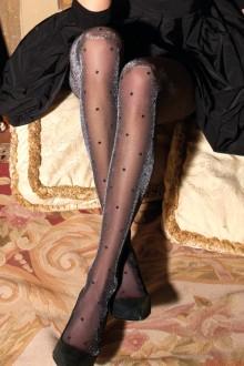 0f86eeb411a DIOS polka dot and lurex tights